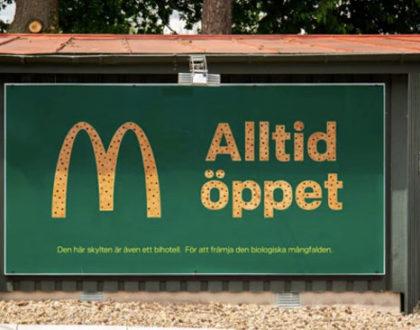 """Outdoors do McDonalds vão se tornar """"hotéis"""" para abelhas na Suécia."""